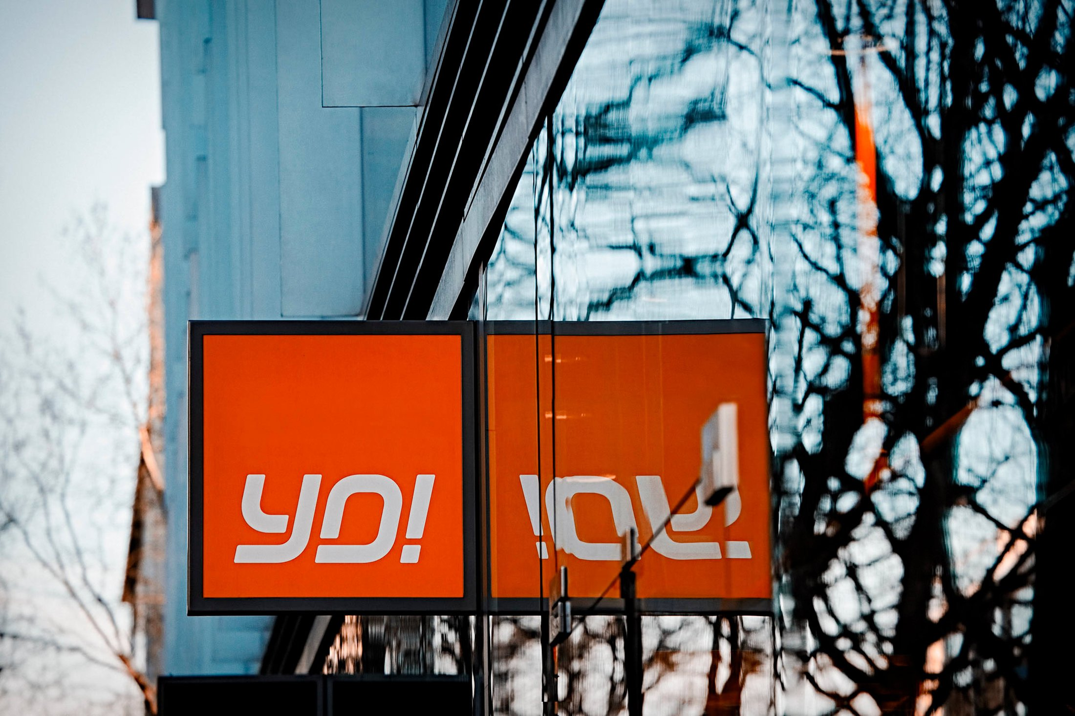 YO! Sushi cube sign variant at a new restaurant site in London.